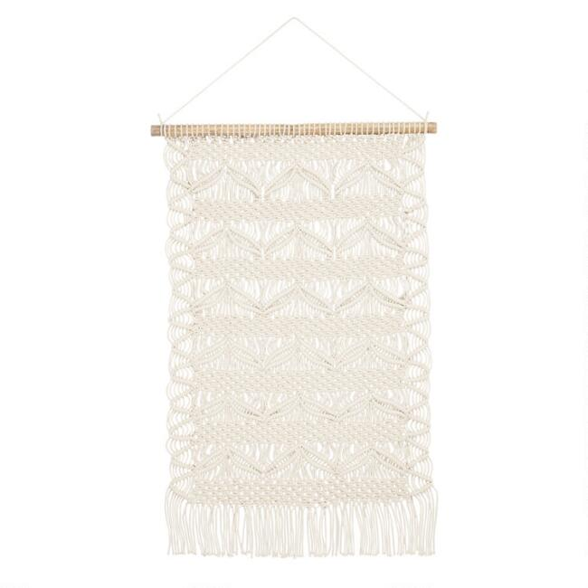 White Macrame Wall Hanging World Market