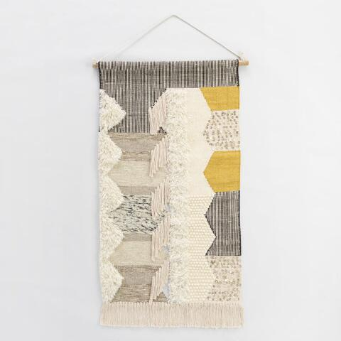 4a93f2c740 Gray and White Woven Wall Hanging