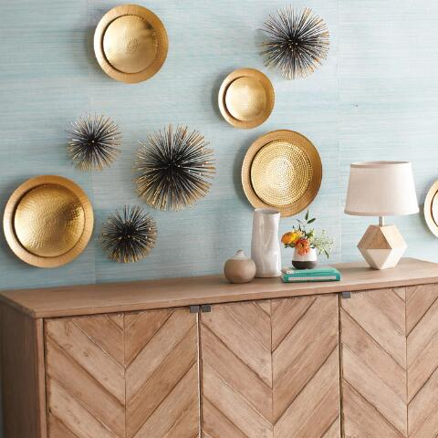 gold sea urchin wall decor set of 3 world market