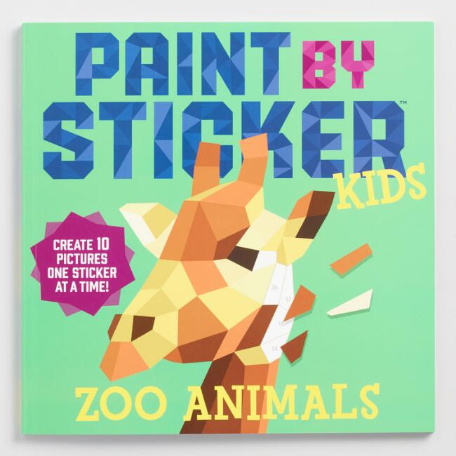 Zoo Animals Paint by Sticker Kids