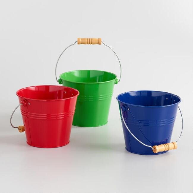 Toysmith Bright and Colorful Pails Set of 3