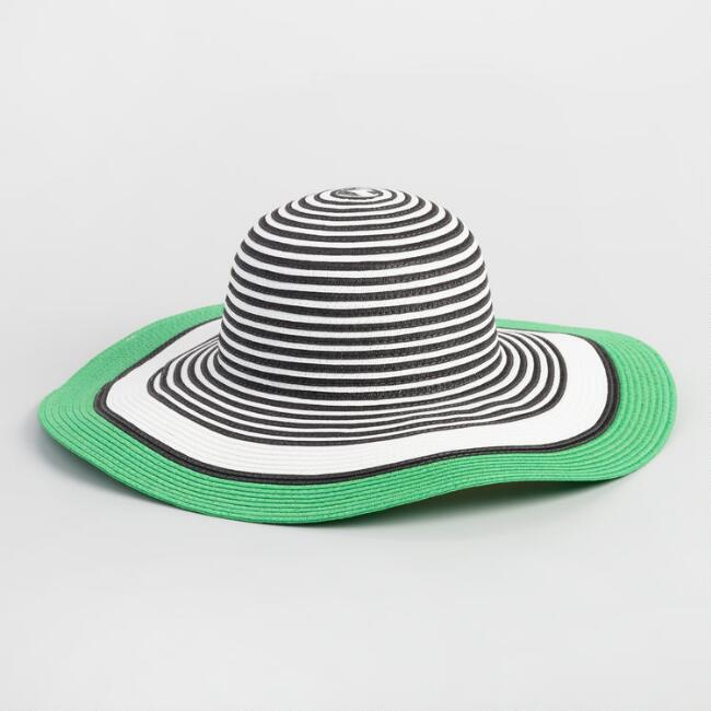 Black, White and Green Sun Hat