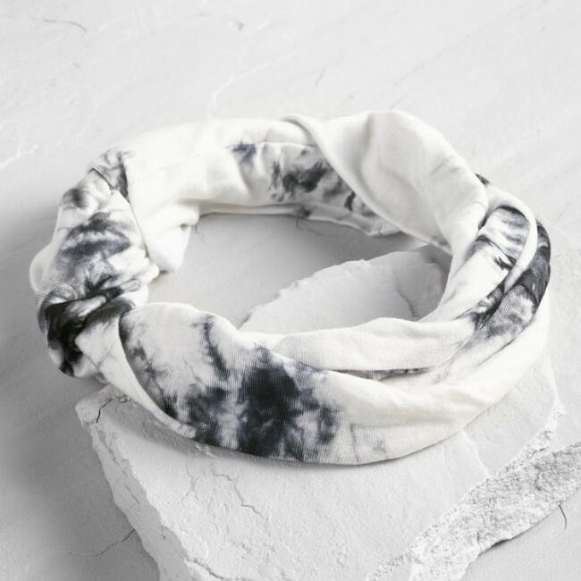 Black and White Marble Headband