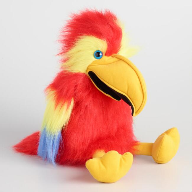 Large Scarlet Macaw Hand Puppet