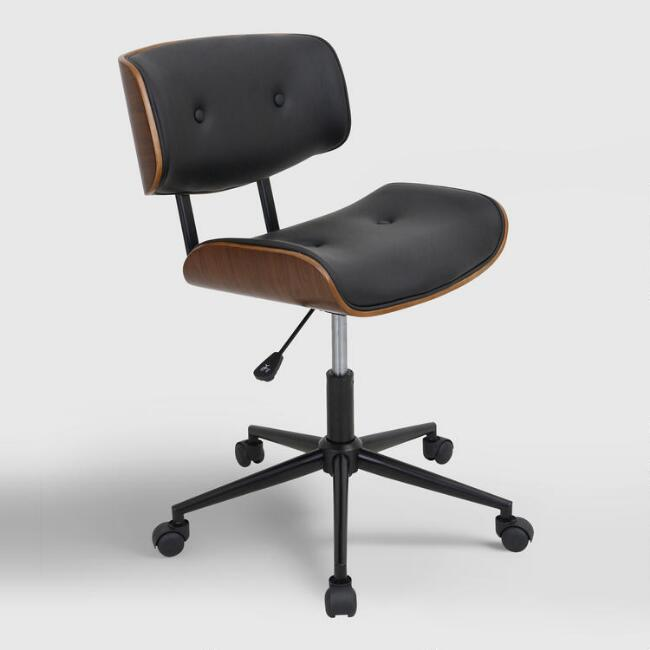 Black Leander Swivel Office Chair