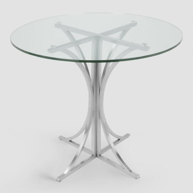 Metal and Glass Nerissa Dining Table