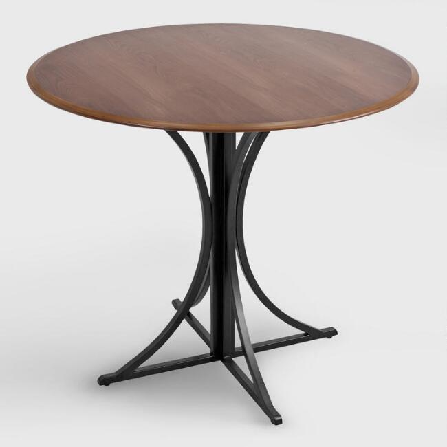Wood and Metal Nerissa Dining Table