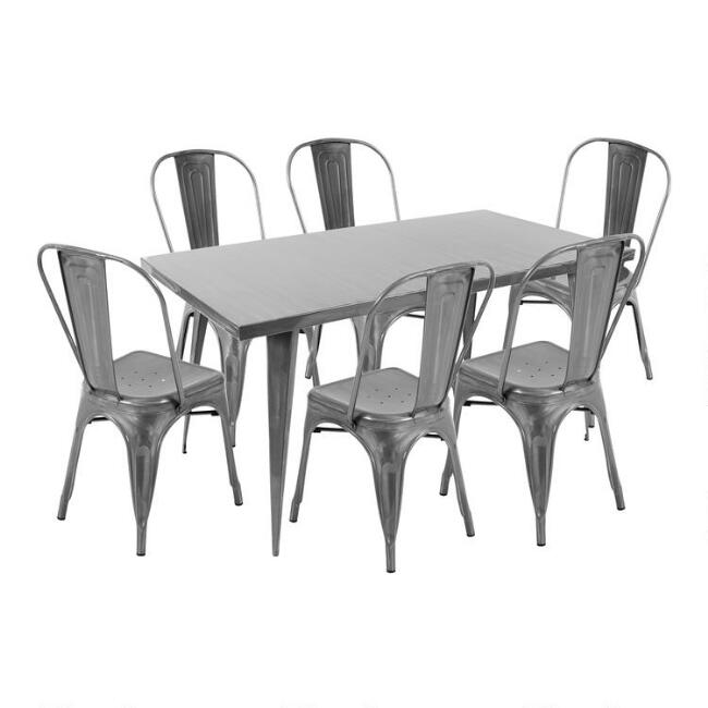 Brushed Metal Talise Dining Collection