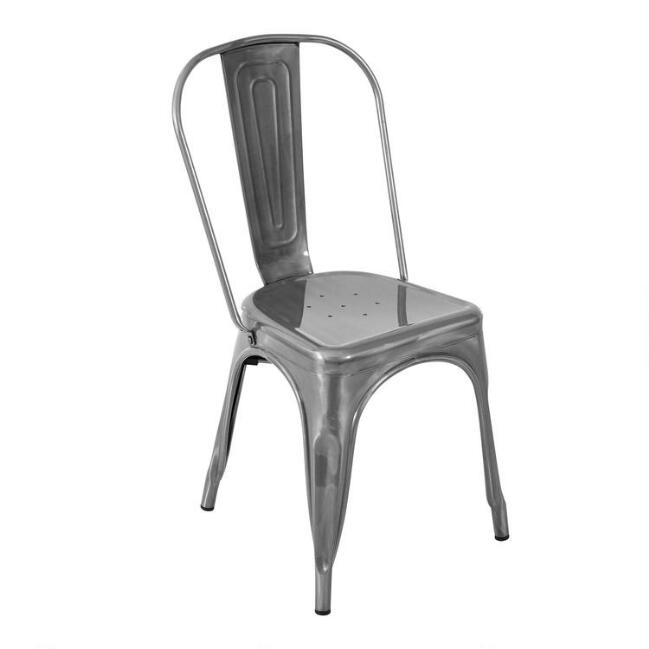 Brushed Metal Talise Dining Chairs Set of 2