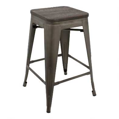 Espresso Arwen Counter Stools Set of 2