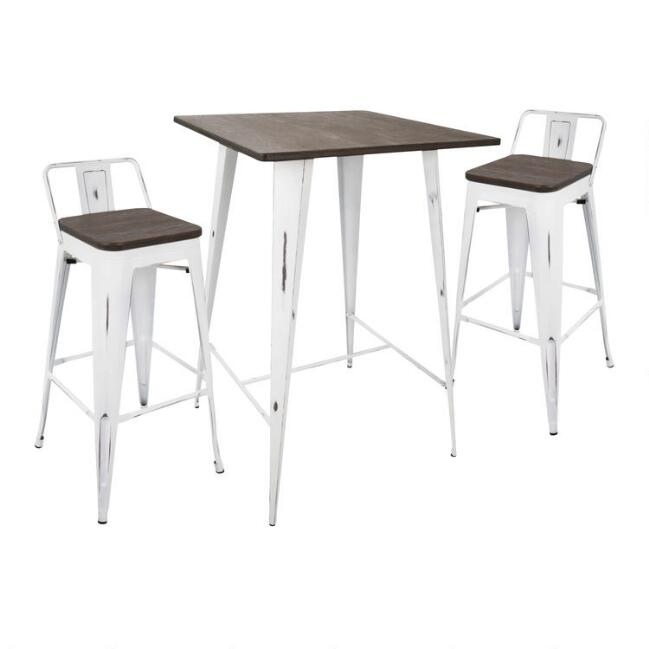 White And Espresso Low Back Ridgeby Pub Dining Collection