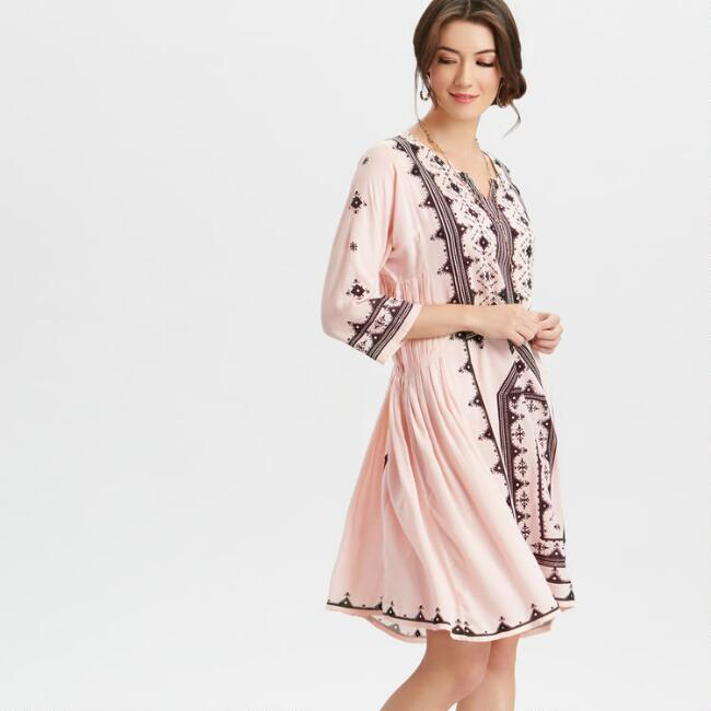 Pink and Black Alice Tunic Dress