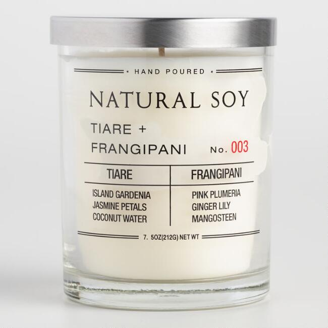 Tiare and Frangipani Filled Soy Candle