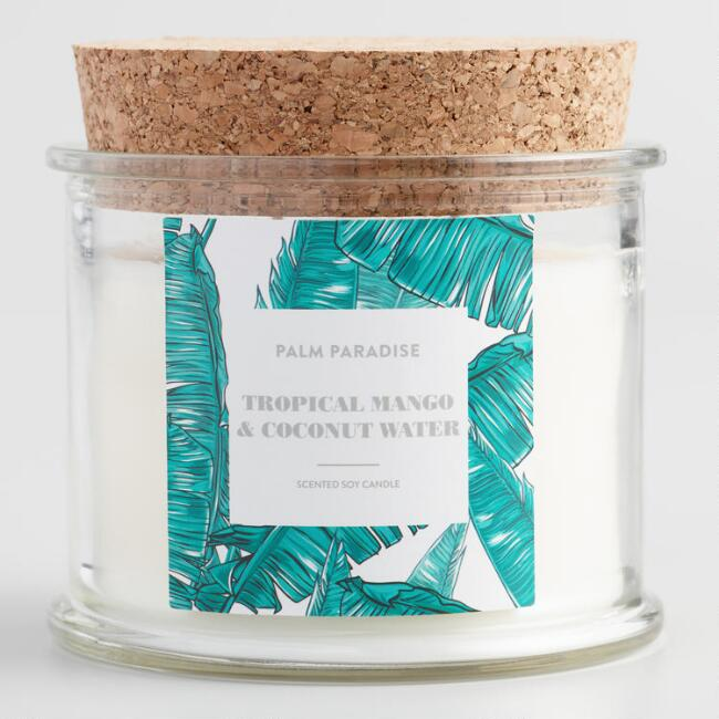 Mango and Coconut Water Palm Paradise Filled Candle