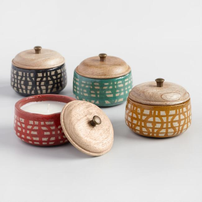 Geometric Terracotta Filled Candle Collection