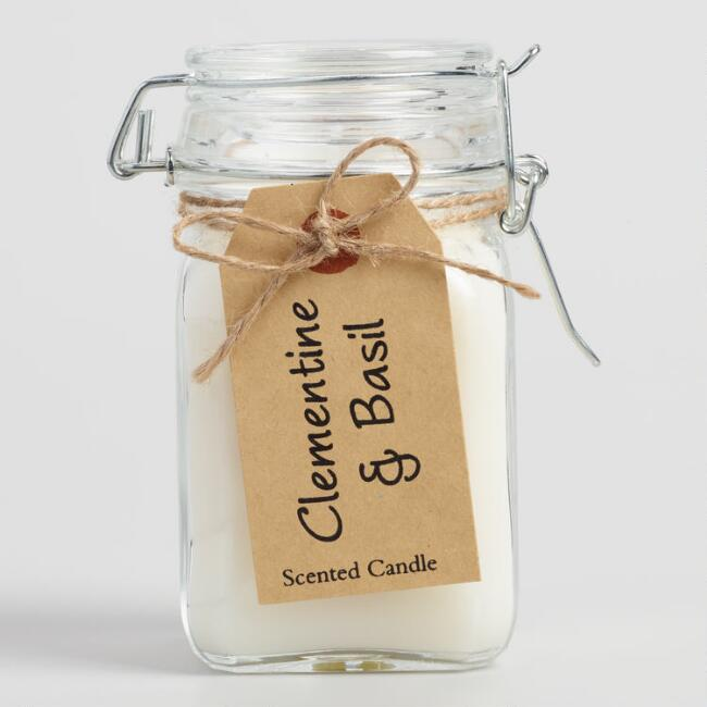 Clementine and Basil Vintage Style Jar Candle