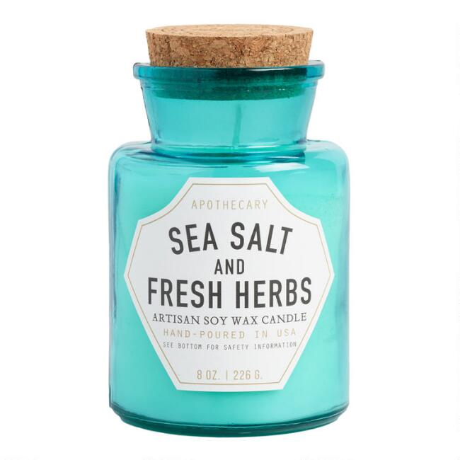 Paddywax Sea Salt and Herbs Old Fashioned Filled Candle