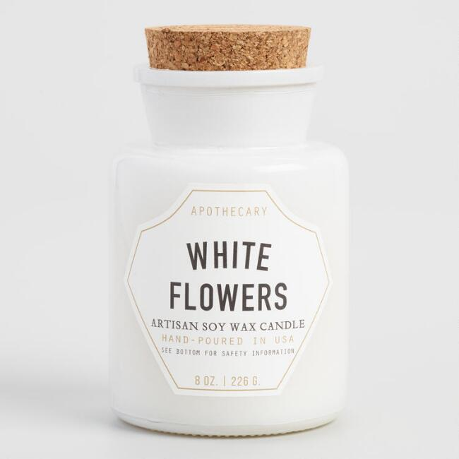 Paddywax White Flowers Old Fashioned Filled Candle