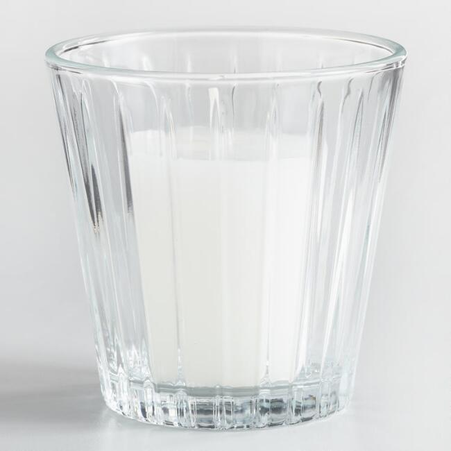 Clear Glass Votive Cup Candleholders Set of 3