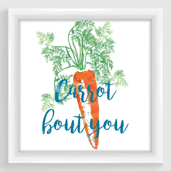 Carrot Bout You Framed Print