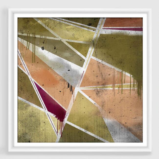 Angles Abstract Framed Print