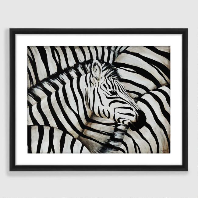Black and White Zebra Framed Print