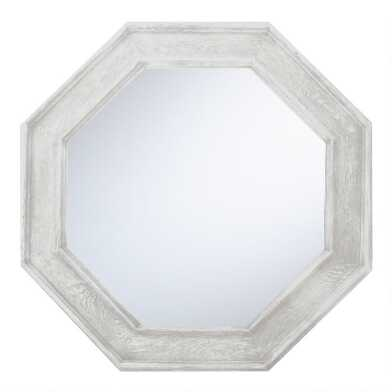 Graywash Octagonal Mirror