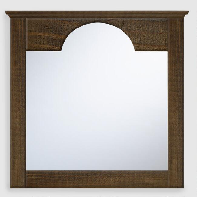 Whitewashed Rectangular Sadie Mirror