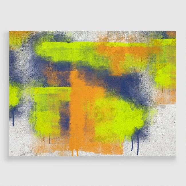 Abstract Graffiti Canvas Print