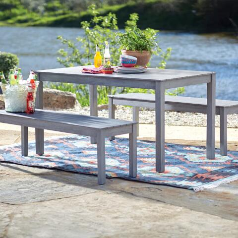Gray San Pedro  Piece Outdoor Dining Furniture Set World Market
