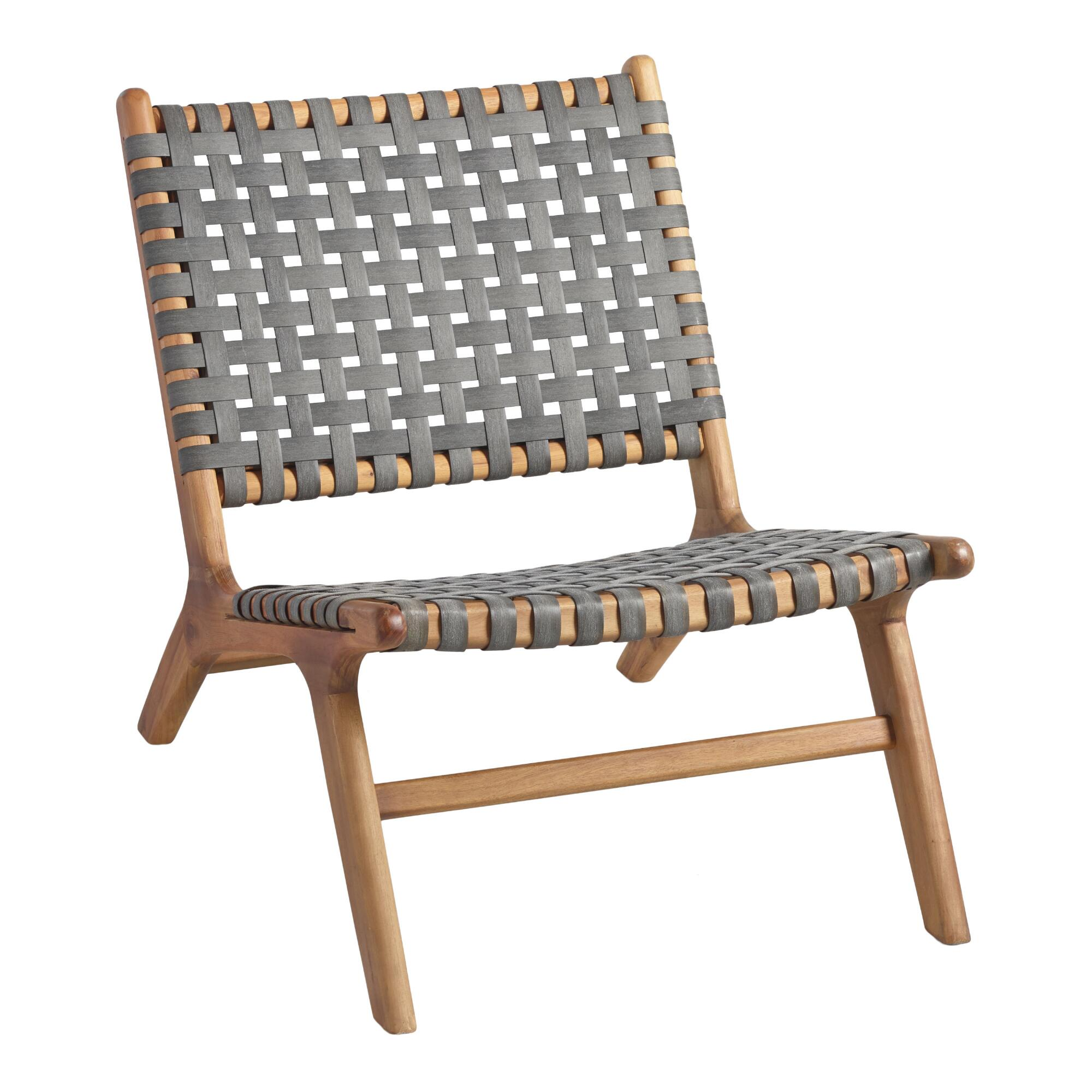 Gray Strap Girona Outdoor Patio Accent Chairs Set Of 2 - Resin by World Market
