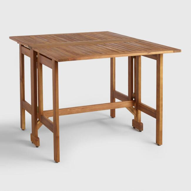 Wood St. Lucia Folding Balcony Table