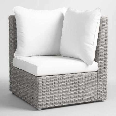 v1 - Gray All Weather Veracruz Outdoor Sectional Corner Chair World Market