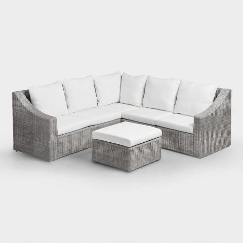 Incredible Gray Veracruz Outdoor Sectional Sofa World Market Gmtry Best Dining Table And Chair Ideas Images Gmtryco