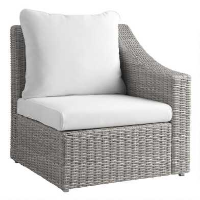 Gray All Weather Veracruz Outdoor Sectional Left Armchair