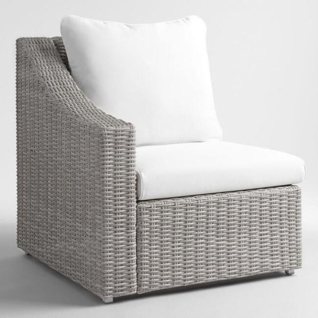 Gray All Weather Veracruz Outdoor Sectional Right Armchair