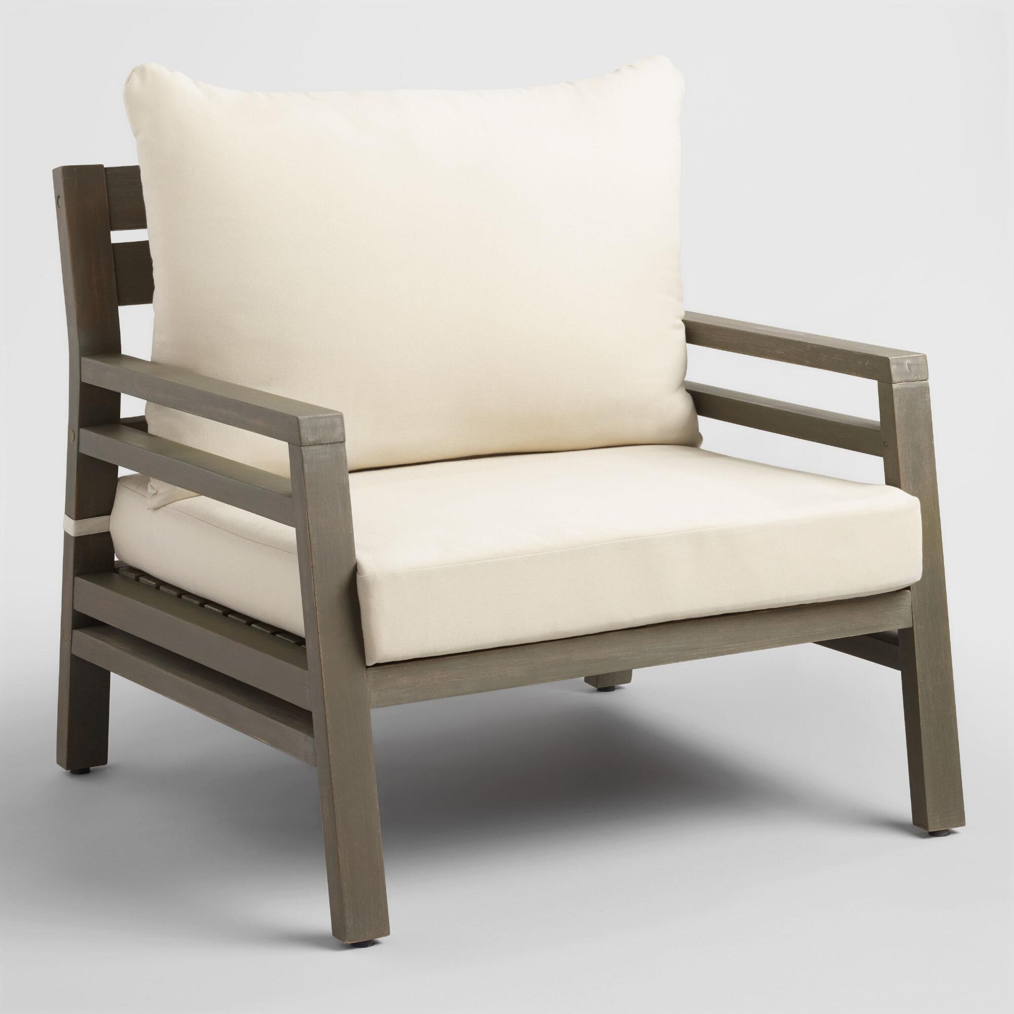 Gray San Sebastian Outdoor Patio Occasional Chair - Wood by World Market