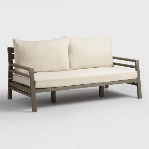 Astounding Gray San Sebastian Outdoor Occasional Deep Bench Creativecarmelina Interior Chair Design Creativecarmelinacom