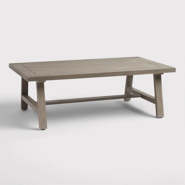 Gray Wood San Sebastian Outdoor Coffee Table