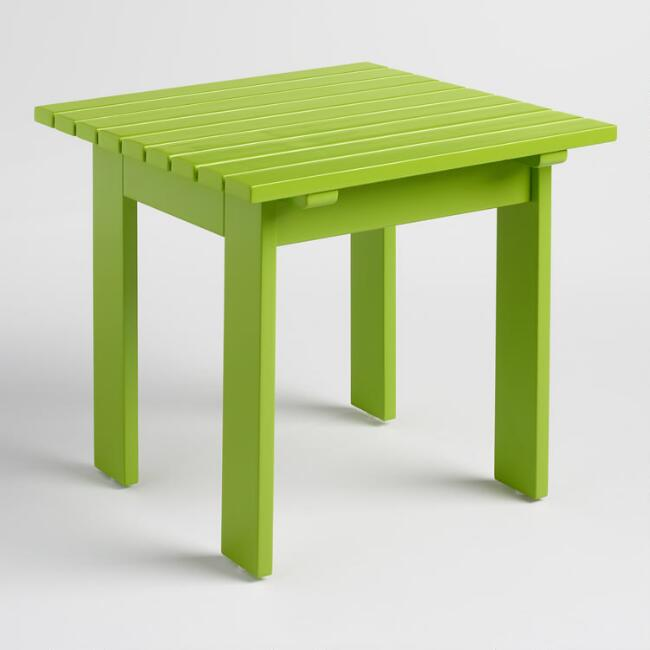 Foliage Green Adirondack Side Table