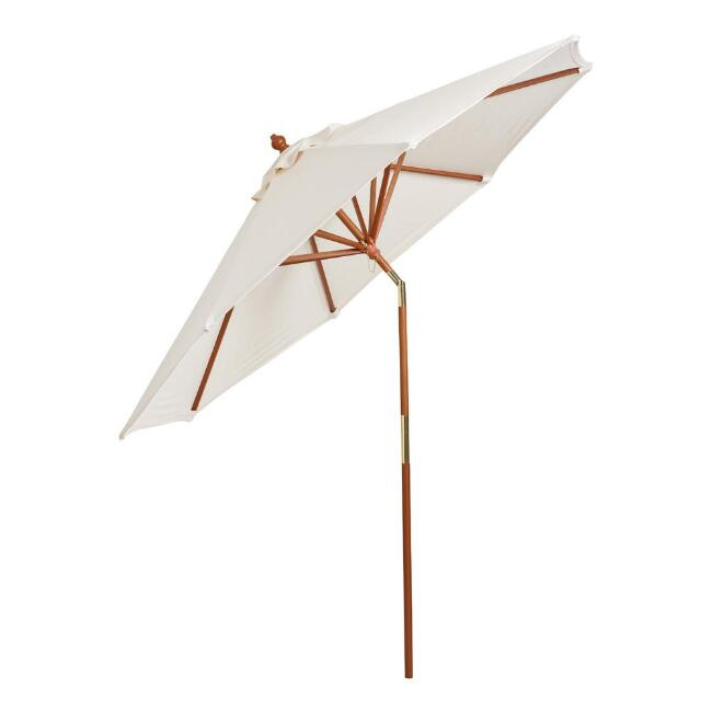 Brown Tilting 9 Ft Outdoor Umbrella Frame And Pole World