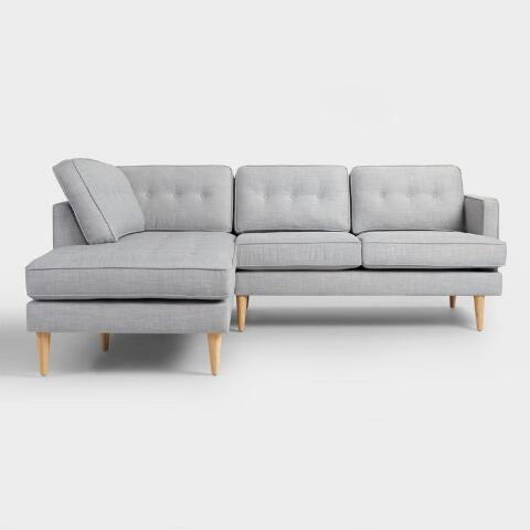 Gray Sofa With Chaise Gray Sectional Couch You Ll Love