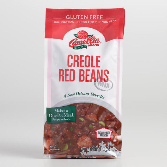 Camellia Creole Red Beans Set of 2