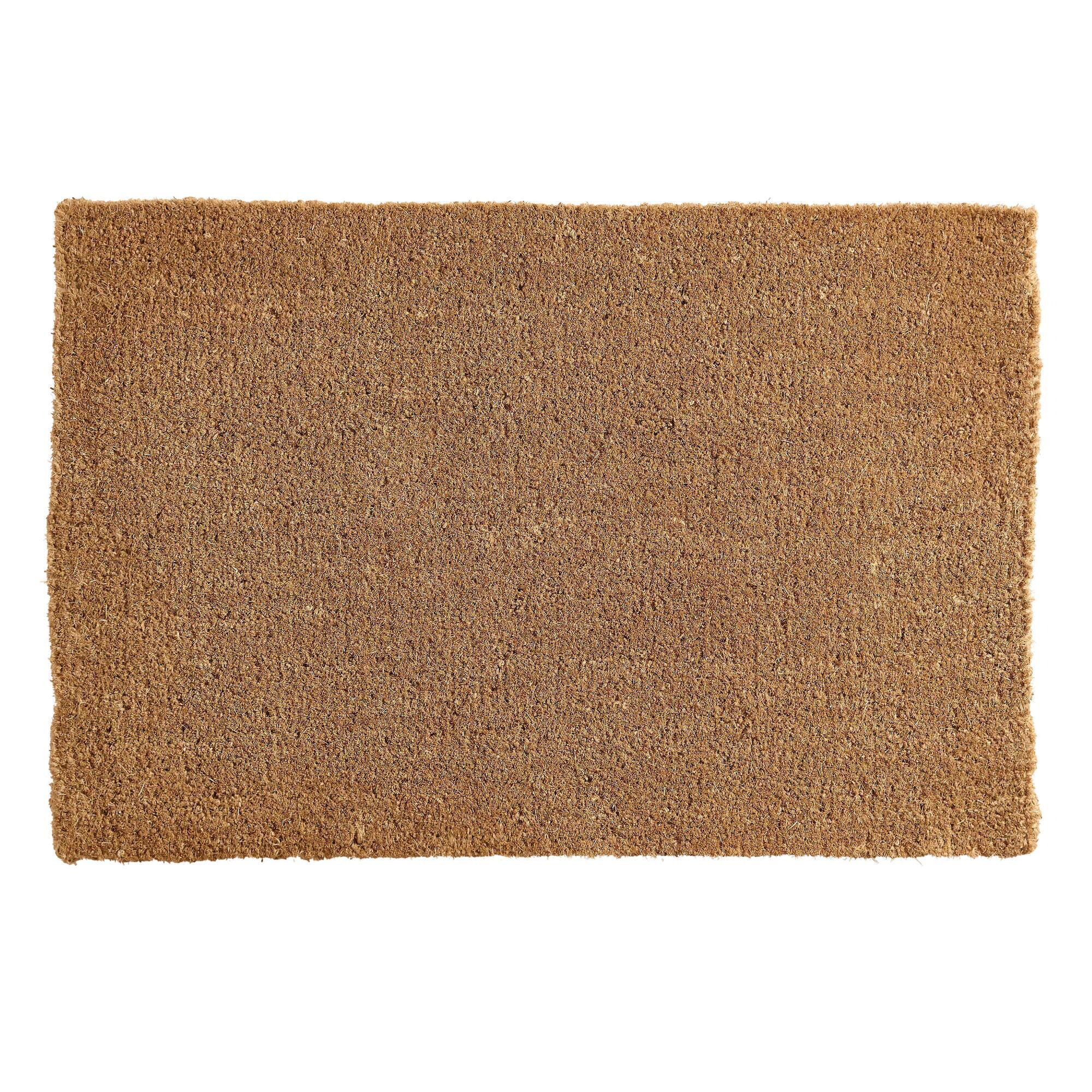 Coir Basic Doormat: Brown - Natural Fiber  by World Market