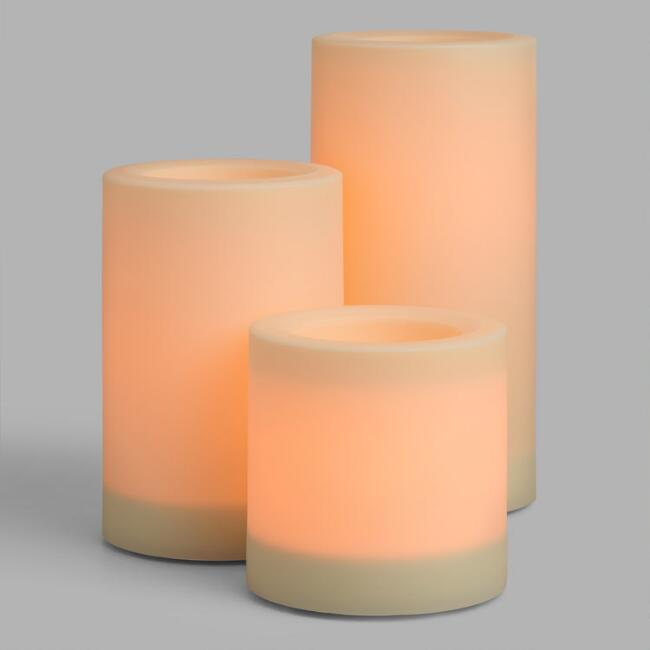 Ivory Flameless LED Outdoor Pillar Candle