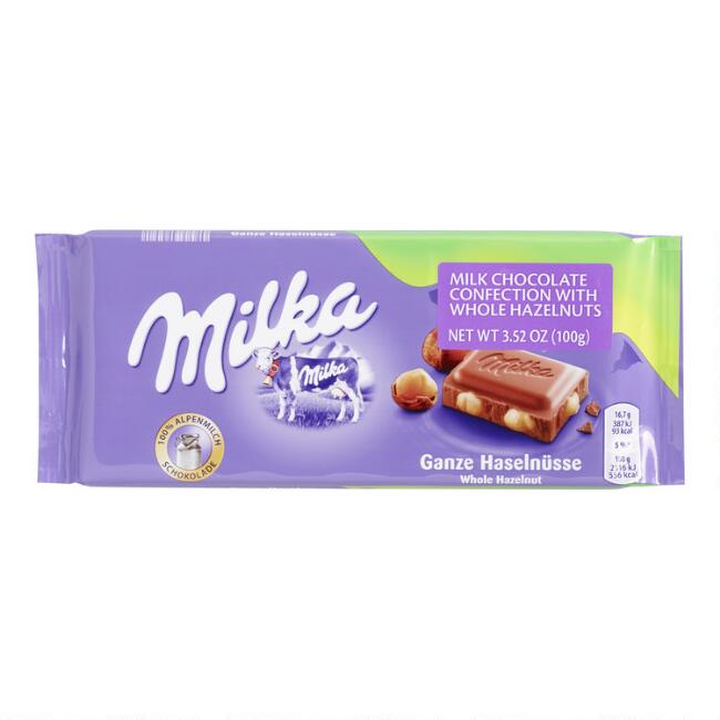 Milka Whole Hazelnut Milk Chocolate Bar