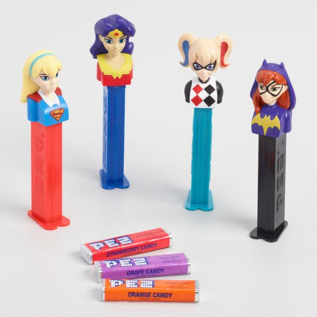 Pez DC Superhero Girls Dispenser and Candy