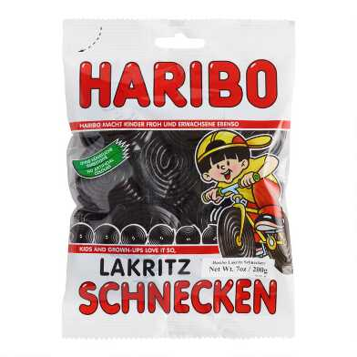 Haribo Black Licorice Wheel Gummy Candy