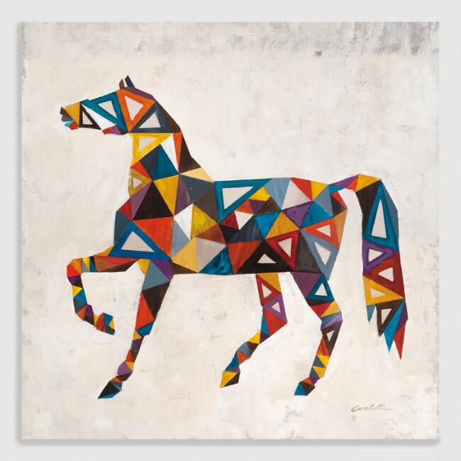 Geometric Horse by Vivian Canbelle