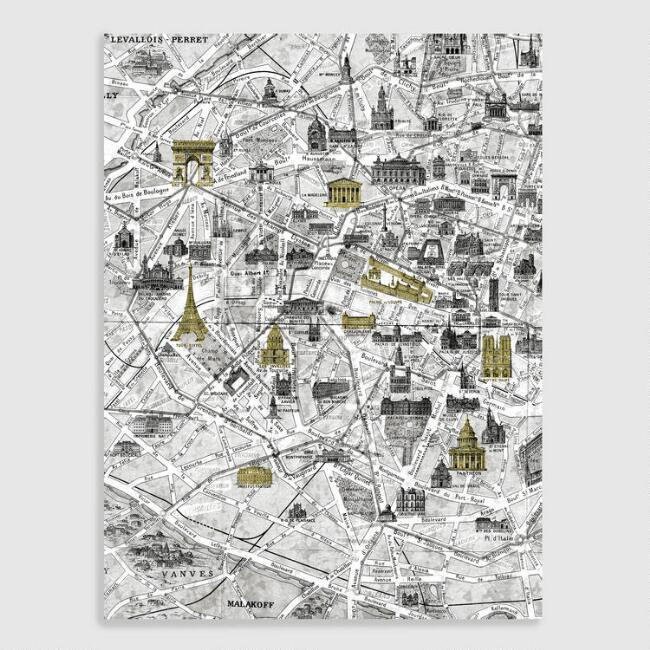 White Paris Map Wall Art | World Market